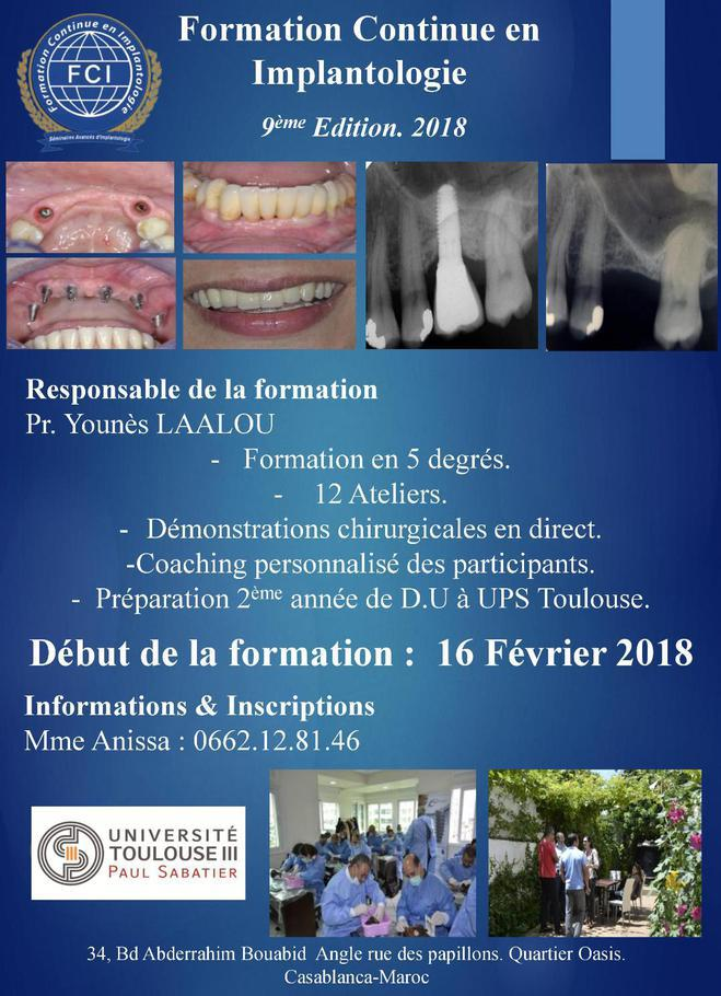 Formation en implantologie FCI 2018