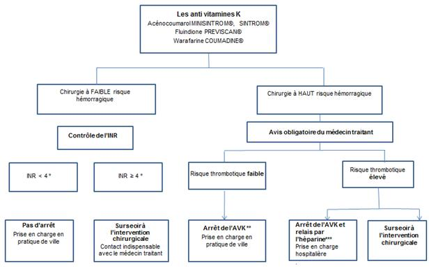 Patients sous anti vitamines K (AVK)